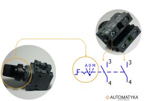 symbol elektryczny przelacznika trojpozycyjnego trojpozycyjny przelacznik auto reka manual