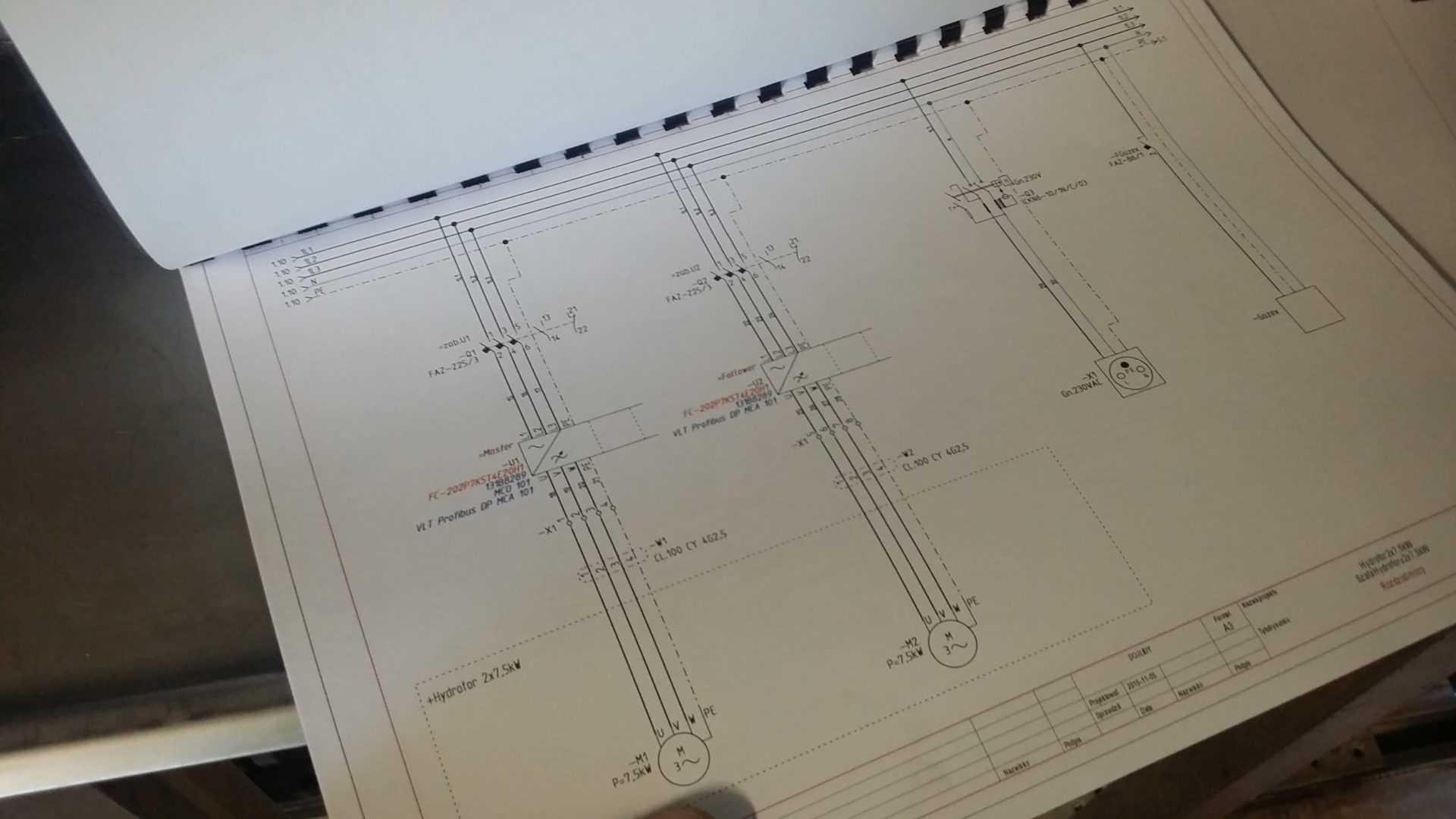 Schemat elektryczny zestawu hydroforowego