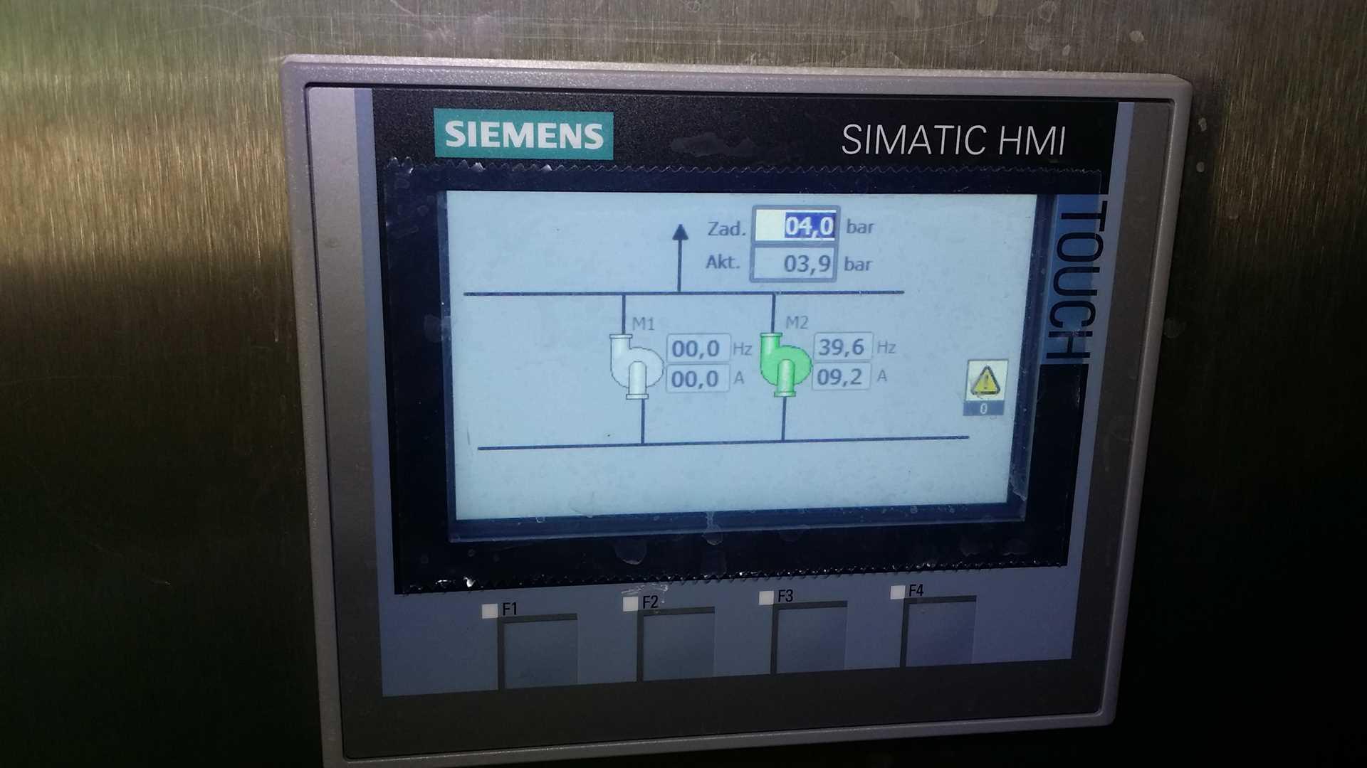 Panel HMI - wizualizacja zestawu hydroforowego