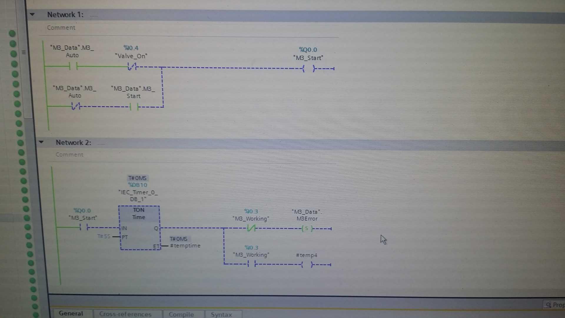 Program PLC - sterowanie pompą M3