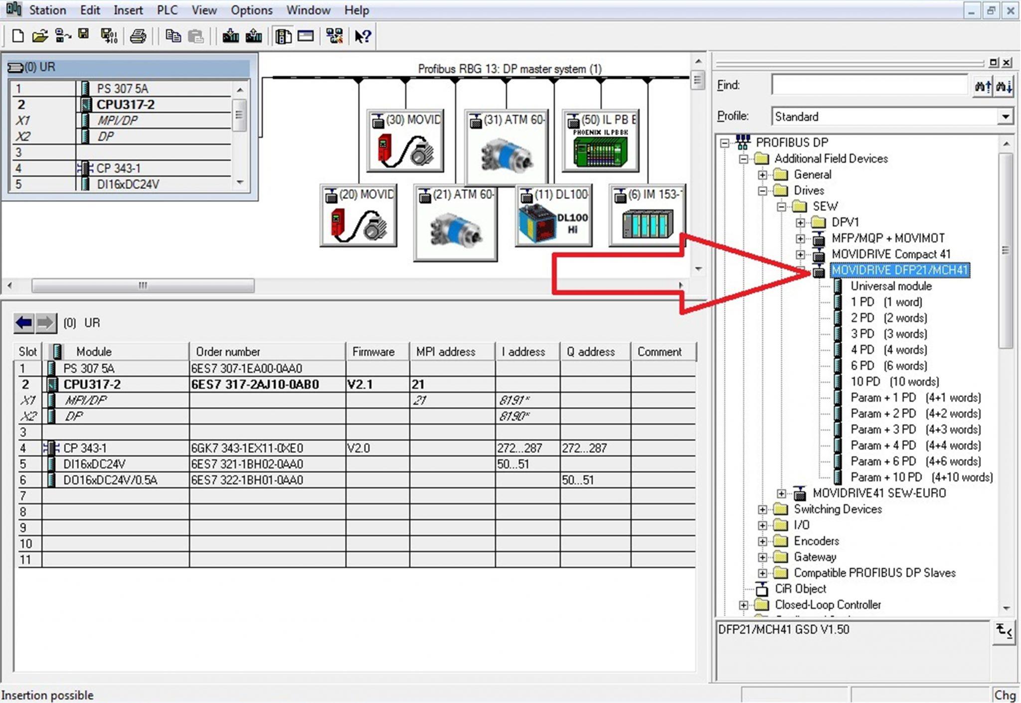 Zdjęcie 3.0 Nowy plik GSD dla falownika MDX61A