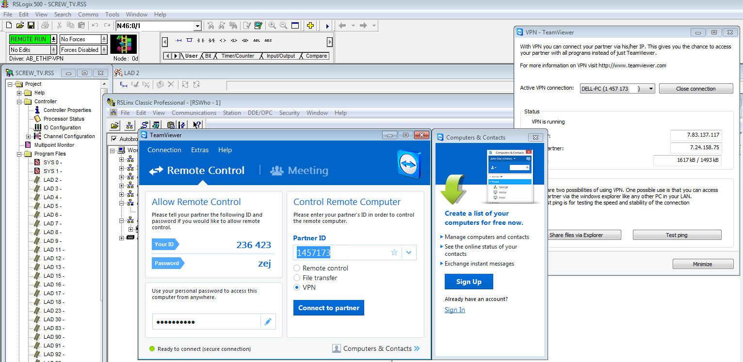 Wykorzystanie VPN aplikacji TeamViewer do połączenie ze