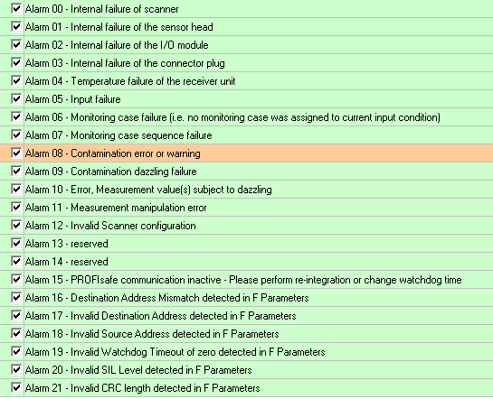 Konfiguracja alarmów w sieci PROFINET po stronie skanera S3000