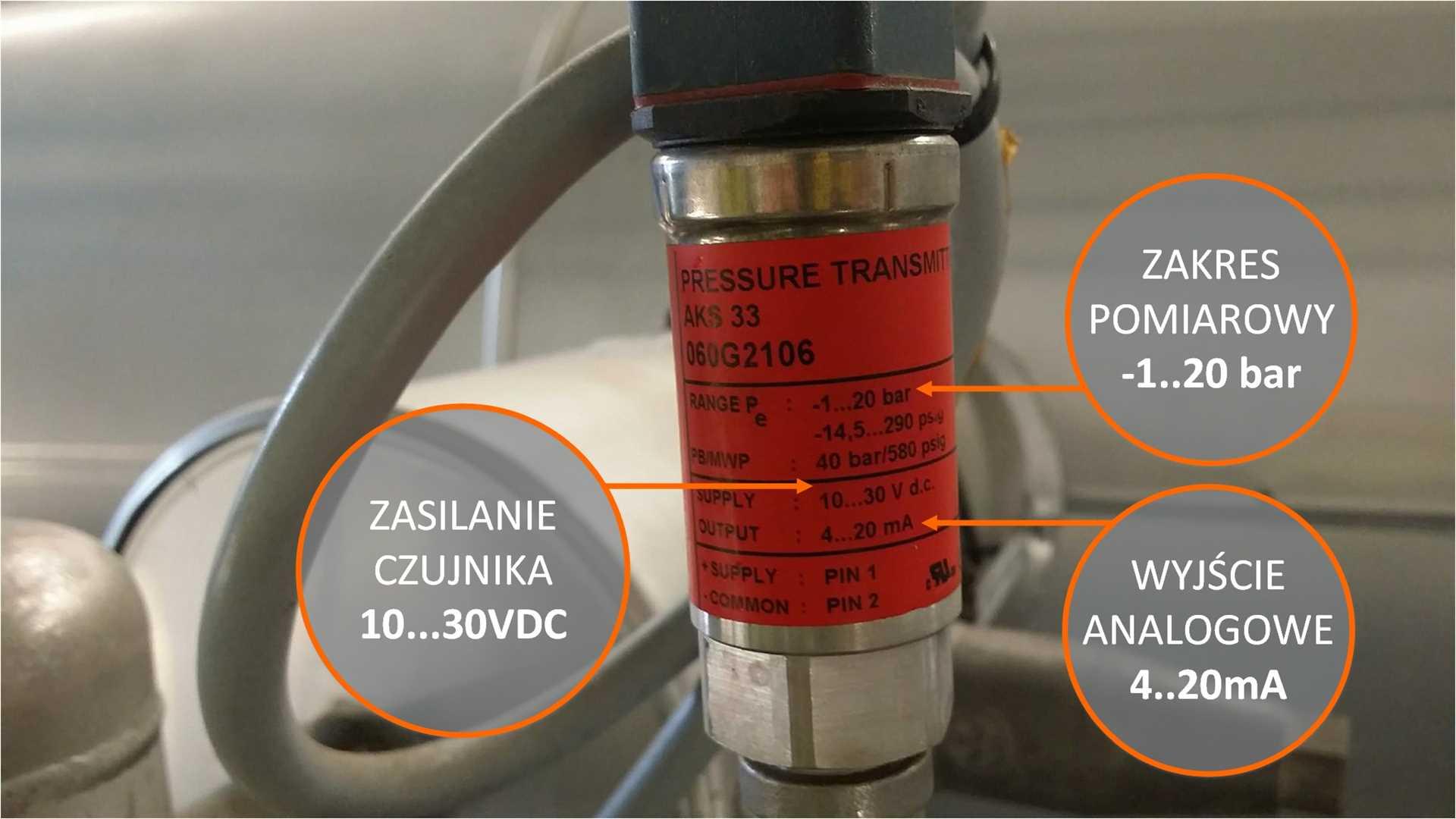 Czujnik analogowy 4-20mA pomiar analogowy plc