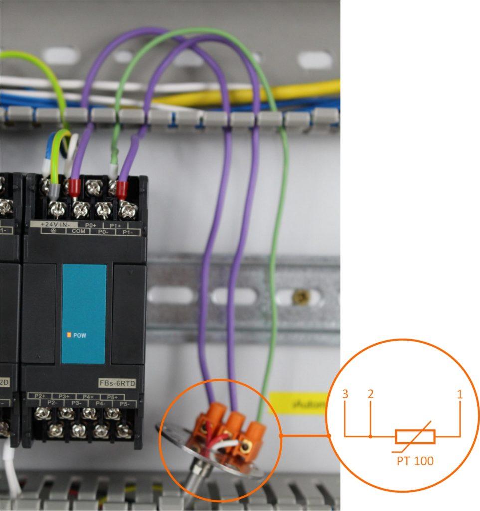 Podlaczenie czujnika PT100 do sterownika plc fatek