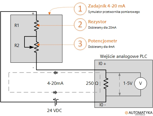 Zadajnik 4-20mA kalibrator DIY2
