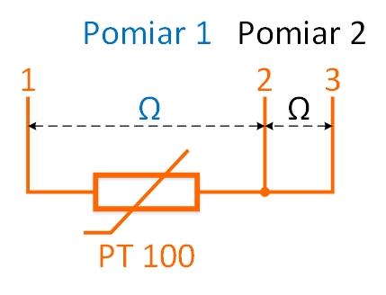 Kompensacja rezystancji przewodów w trójprzewodowych czujniku PT100