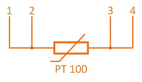 Czujnik temperatury PT100 - czteroprzewodowy