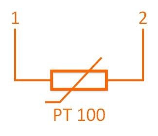 Czujnik temperatury PT100 - dwuprzewodowy
