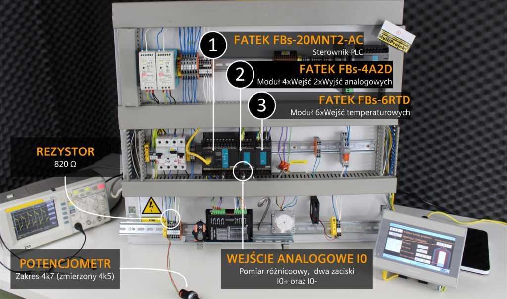 stanowisko testowe FATEK petla pradowa 4-20mA
